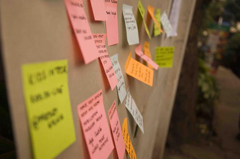 Предложения за свободни сесии (barcamp). Серия GV2012 във Flickr (@LauraSchne, CC-by-NC-SA 2.0)